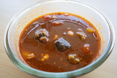 スープの素が解けた状態